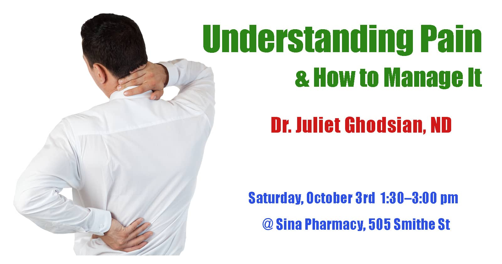 Pain Management Event-Sina Pharmacy & Sage Clinic